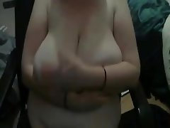 Saggy Tits, Big Boobs, Webcam, Handjob