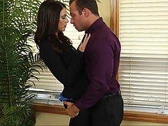 Office, Stockings, Brunette, Babe