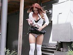 Teen, POV, Webcam, Redhead