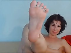 Brunette, Foot Fetish, MILF, Webcam