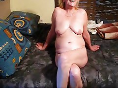 Blonde, MILF, Close Up, Granny